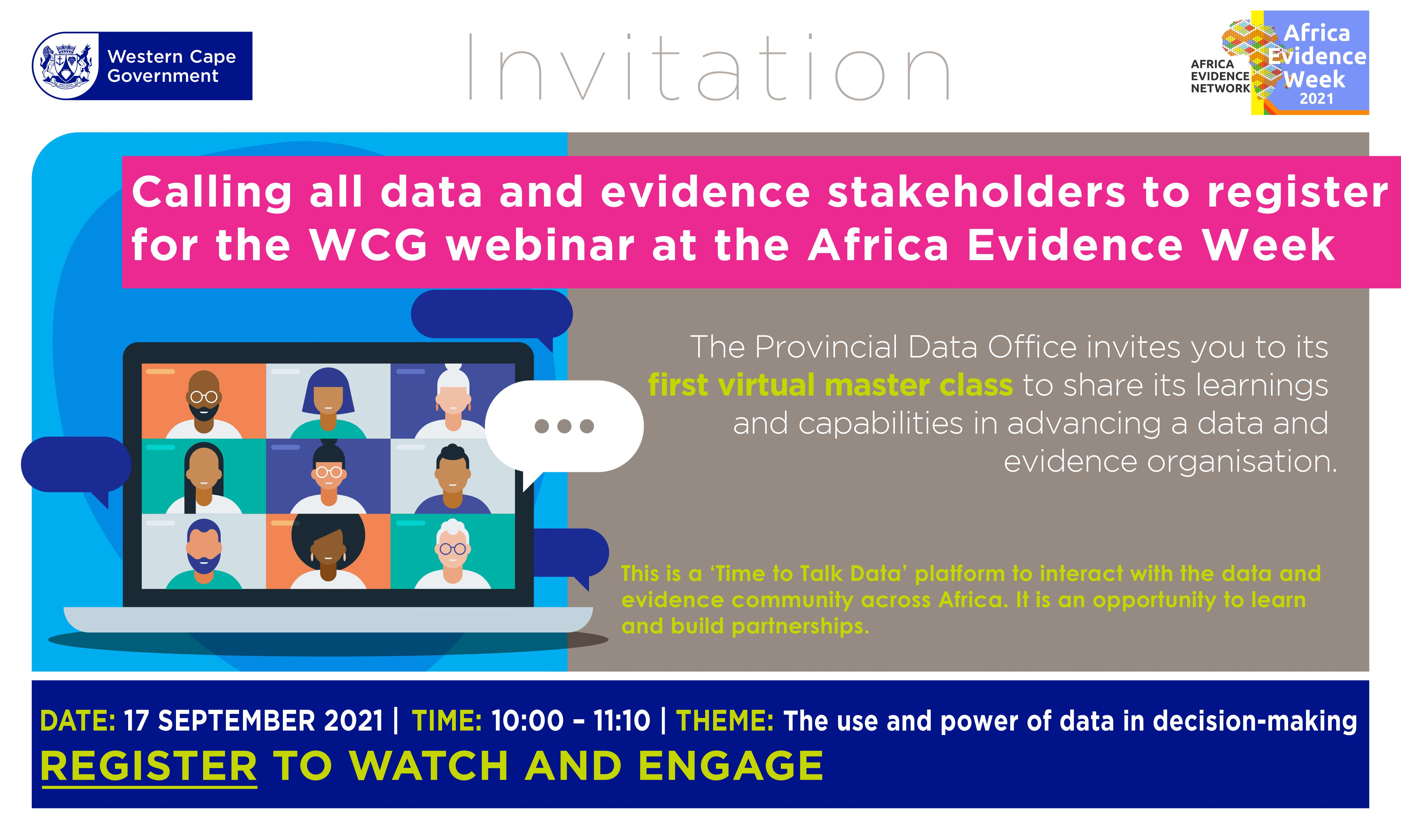 Africa Evidence Week 2021 event: Time to Talk Data – use and power of data in decision-making