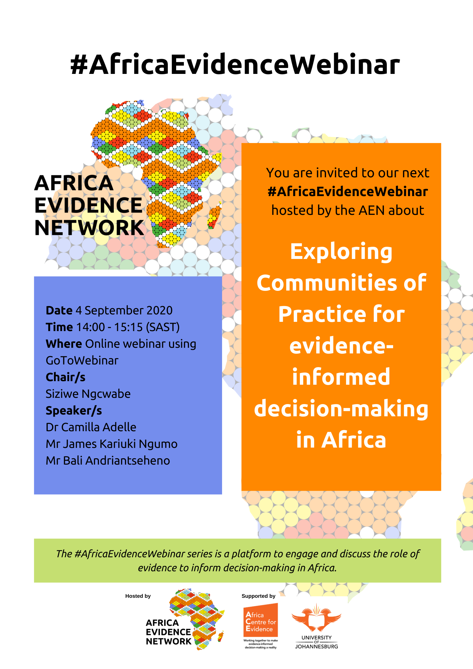 #AfricaEvidenceWebinar | Exploring communities of practice for evidence-informed decision-making in Africa