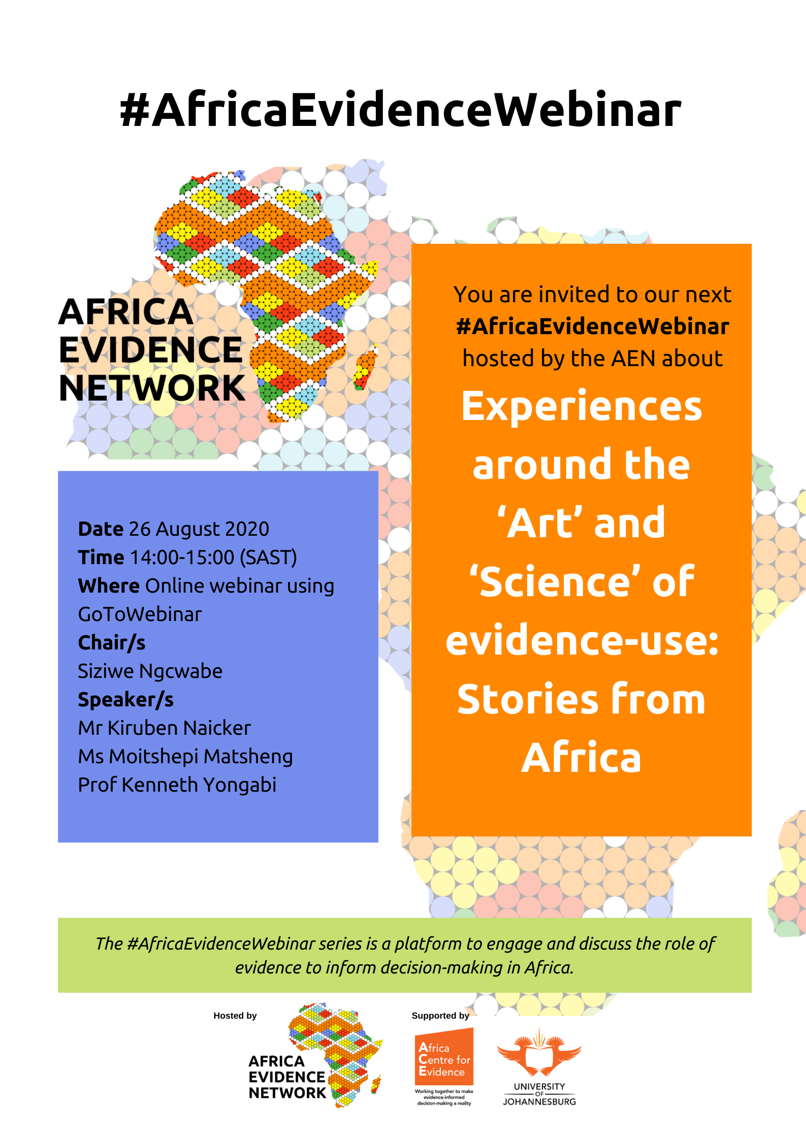 Experiences around the 'Art' and 'Science' of evidence-use: Stories from Africa