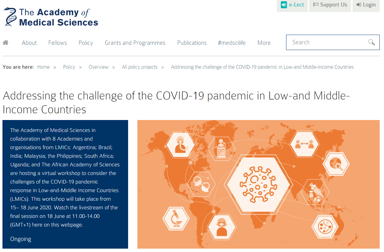 Addressing the challenge of the COVID-19 pandemic in Low-and Middle-Income Countries