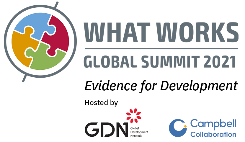 What Works Global Summit 2021: Evidence for Development