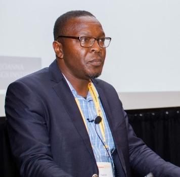 Dr Patrick Mbah Okwen, Team Lead at eBASE Africa; Nain Mirabel Yuh, Disability Programmes Manager at eBase Africa.