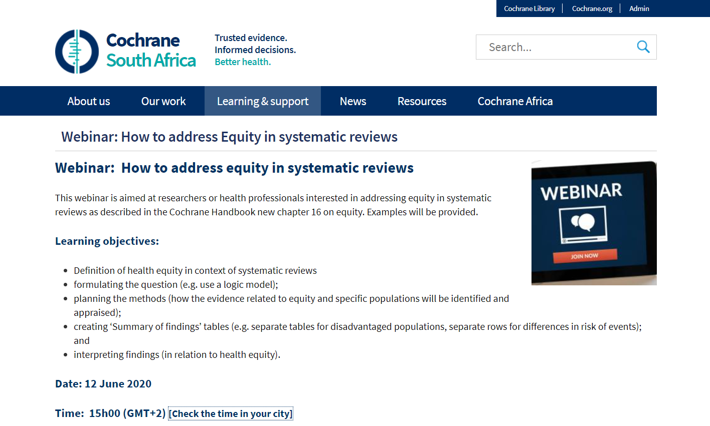 How to address Equity in systematic reviews