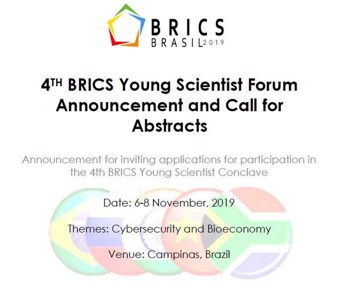 Call for Applications - 4th BRICS Young Scientist Forum
