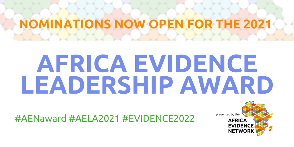 Africa Evidence Leadership Award