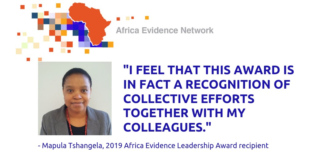 Only together – award recipient's reflections on how to champion evidence in Africa