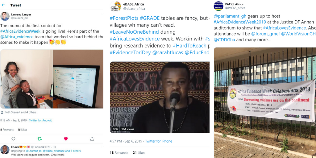 What happened on day 1 of Africa Evidence Week?