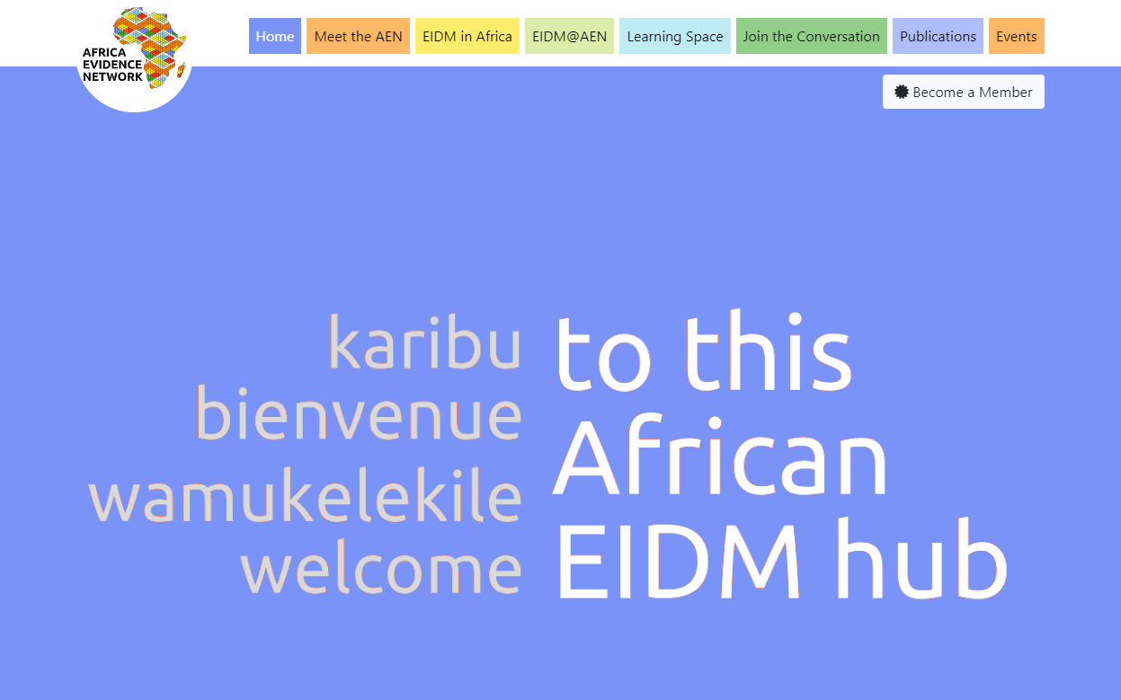 New EIDM hub launched in time for Africa Evidence Week