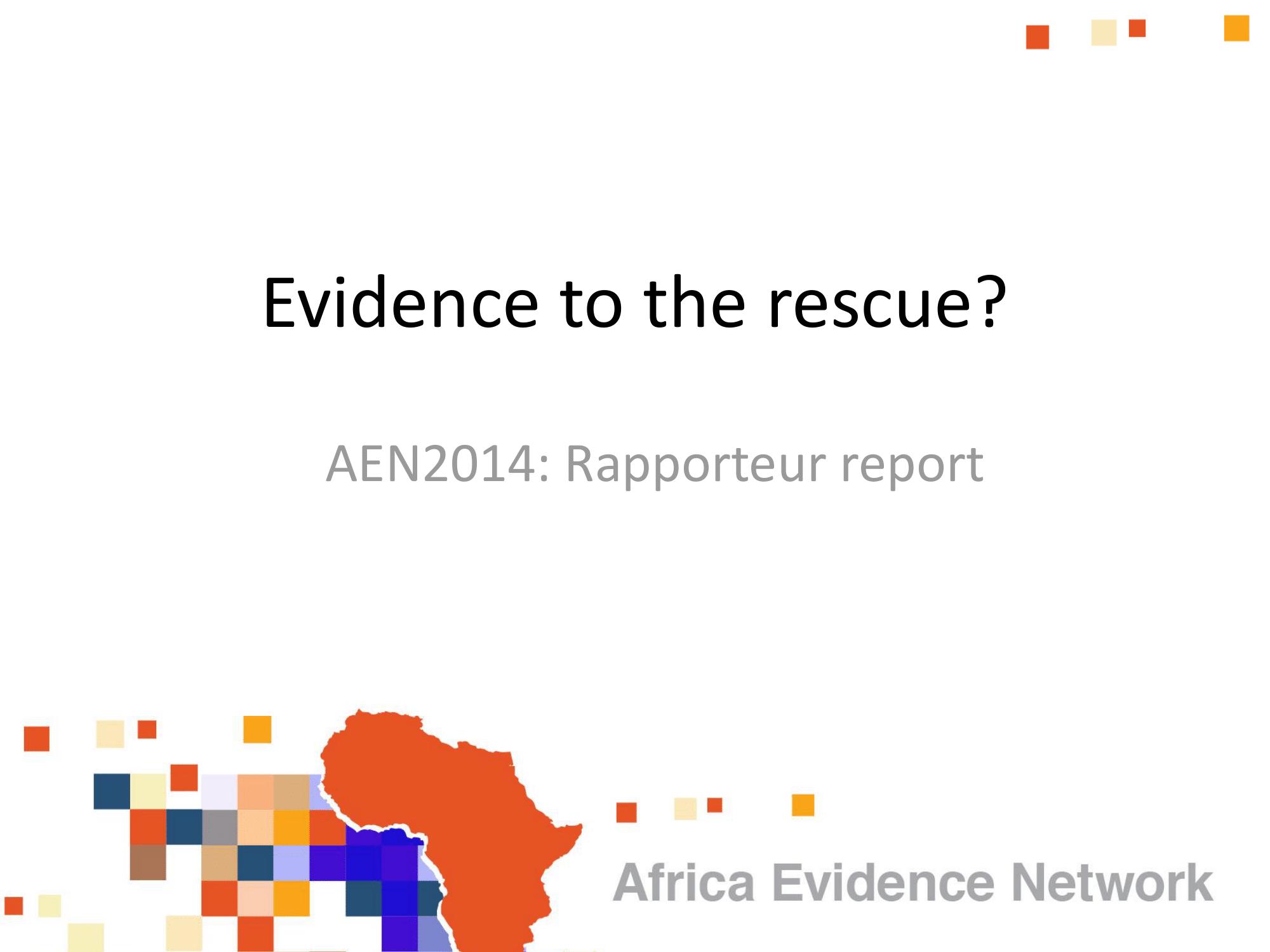 Africa Evidence Network (AEN) 2014 colloquium report