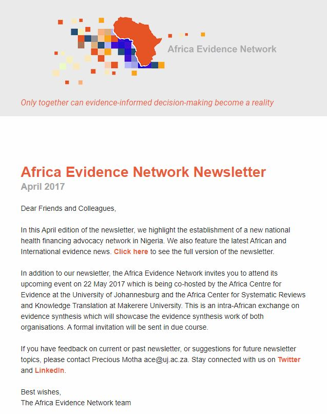 AEN April 2017 newsletter