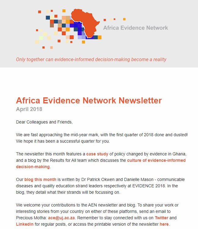 AEN April 2018 newsletter