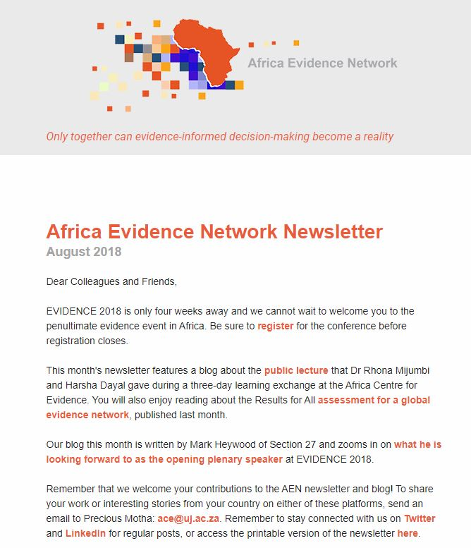 AEN August 2018 newsletter
