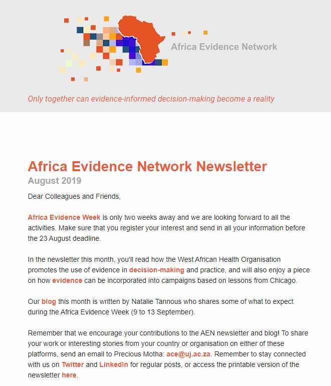 AEN August 2019 newsletter