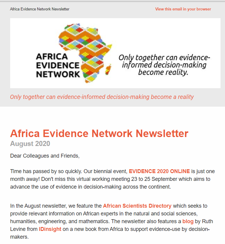AEN August 2020 newsletter