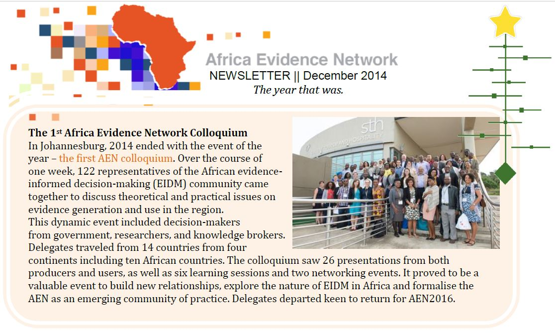 AEN December 2014 newsletter