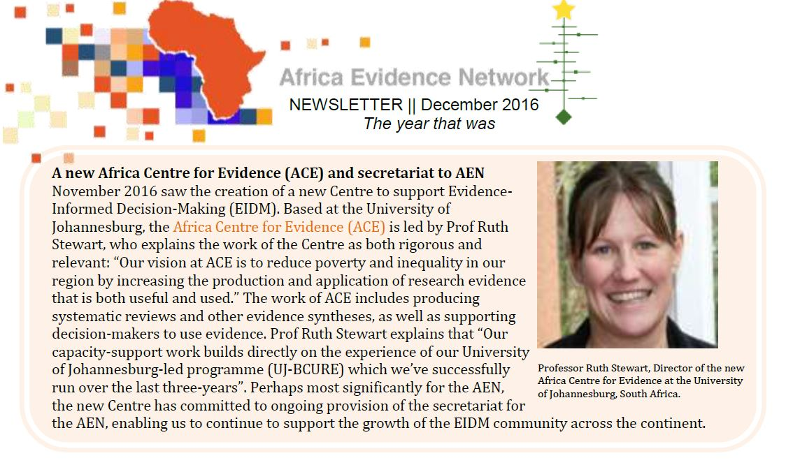 AEN December 2016 newsletter