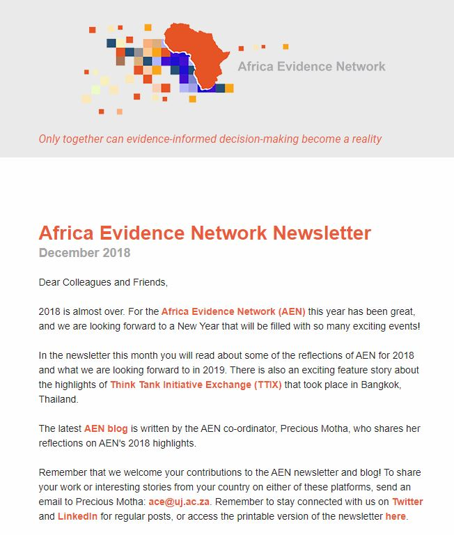AEN December 2018 newsletter