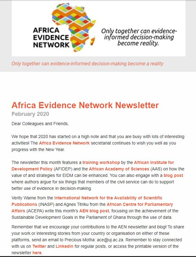 AEN February 2020 newsletter