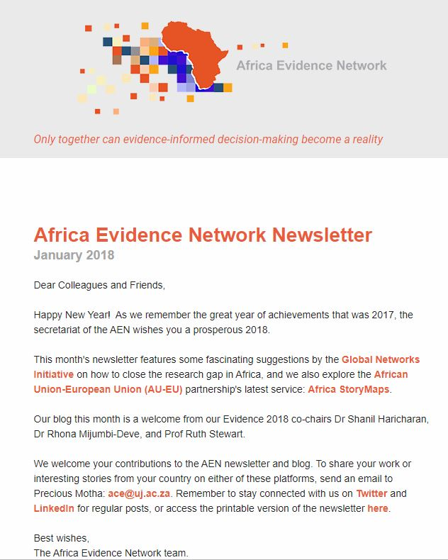 AEN January 2018 newsletter