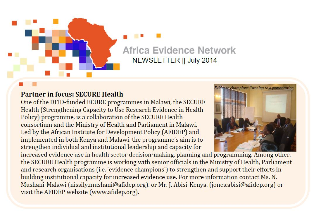 AEN July 2014 newsletter