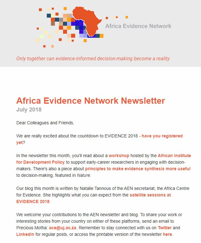 AEN July 2018 newsletter