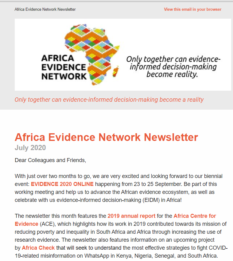 AEN July 2020 newsletter