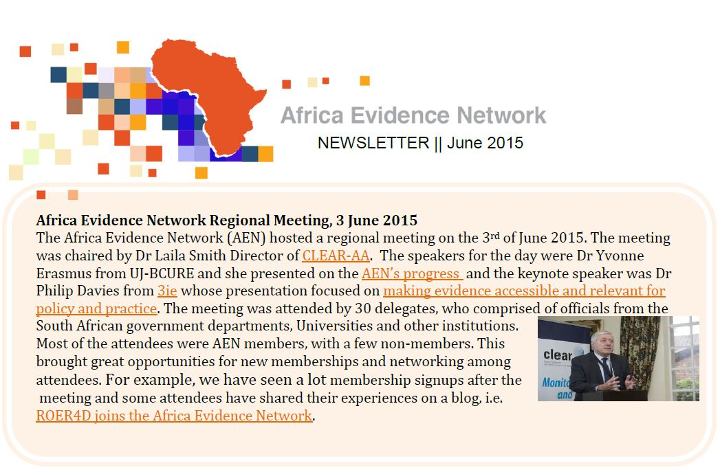 AEN June 2015 newsletter
