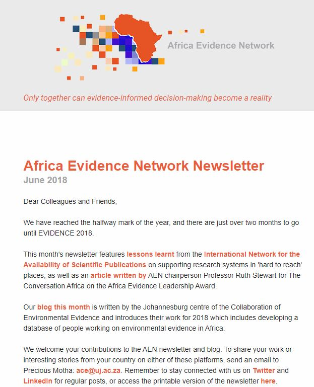 AEN June 2018 newsletter