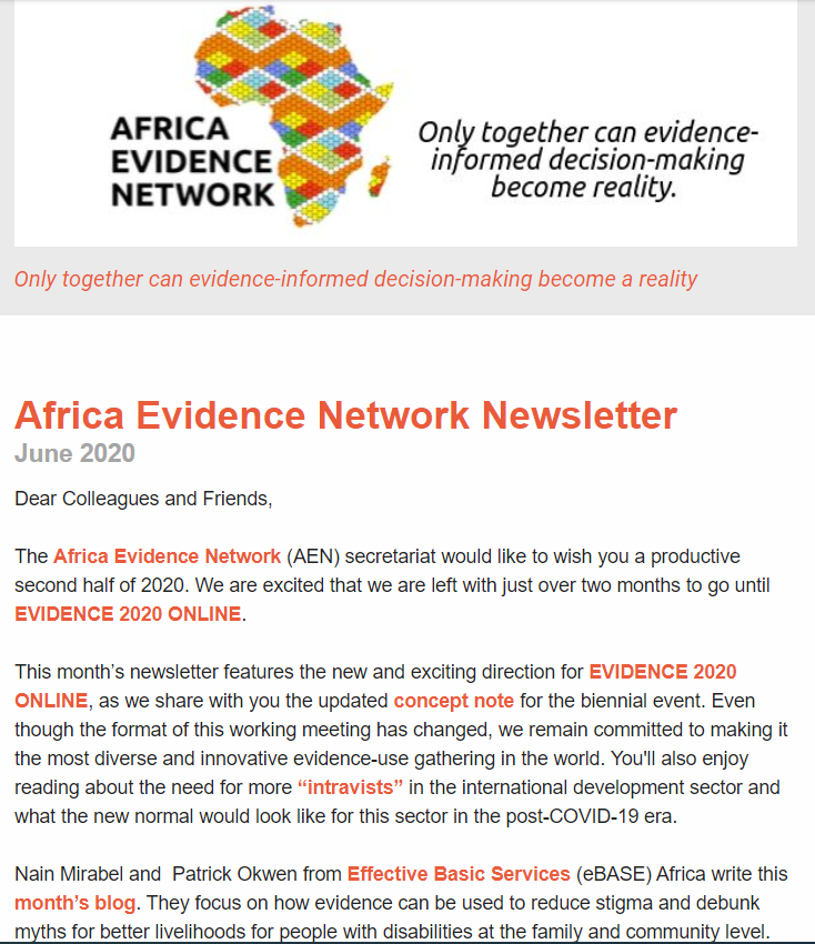 AEN June 2020 newsletter