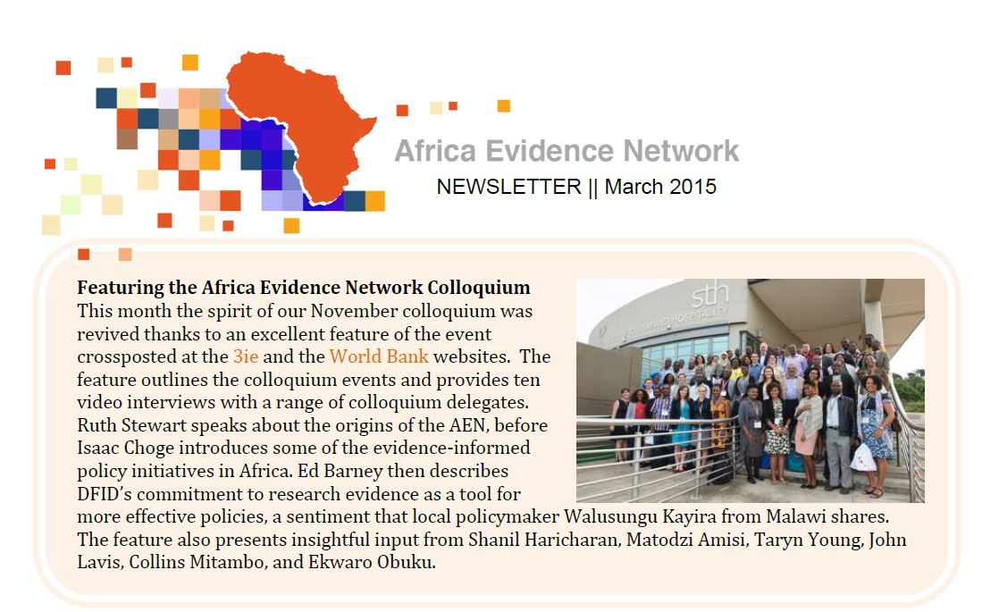 AEN March 2015 newsletter