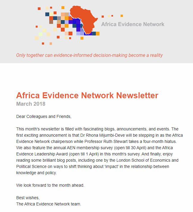 AEN March 2018 newsletter