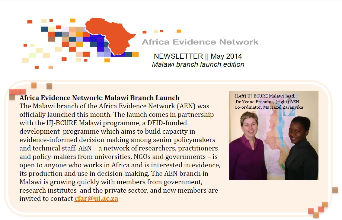 AEN May 2014 newsletter