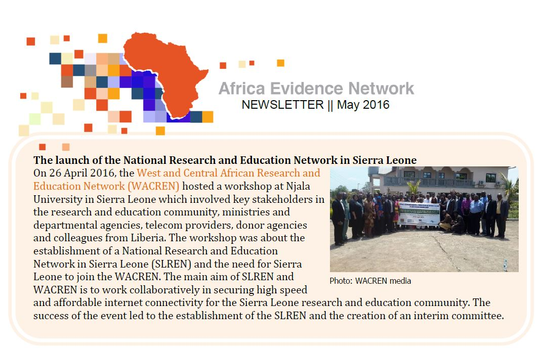 AEN May 2016 newsletter