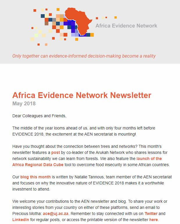 AEN May 2018 newsletter