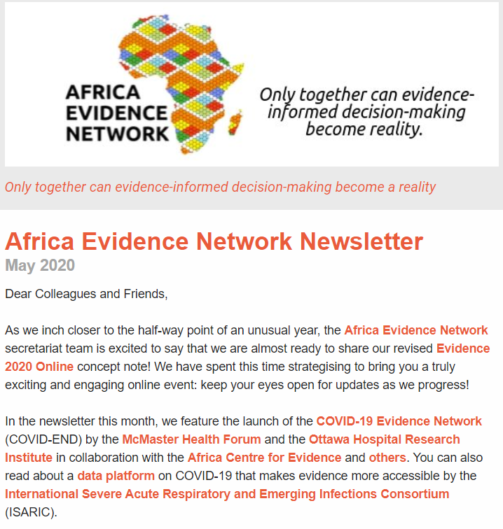 AEN May 2020 newsletter