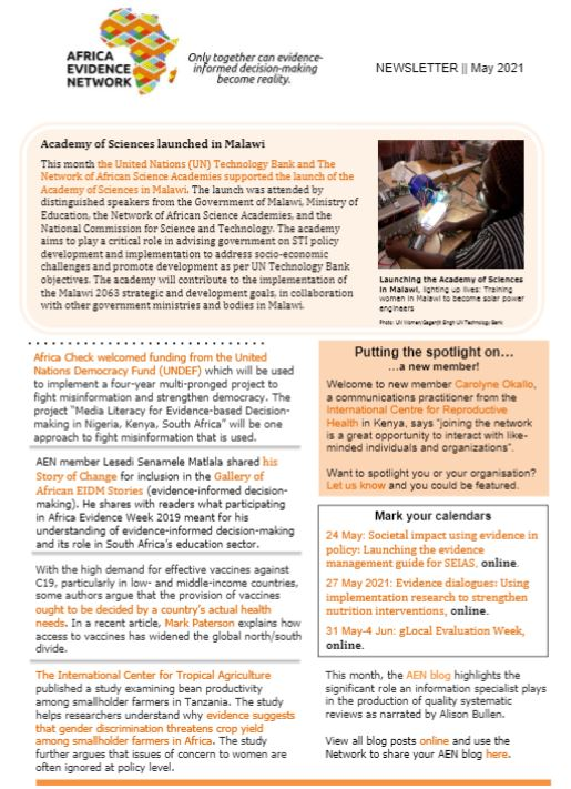 AEN May 2021 newsletter