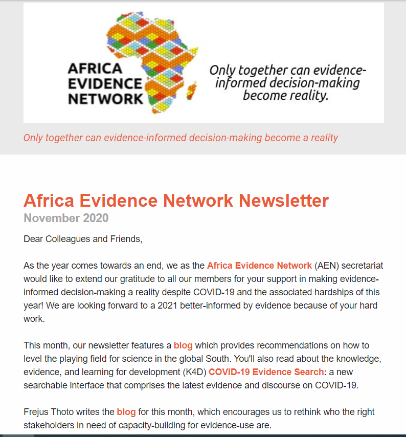 AEN November 2020 newsletter