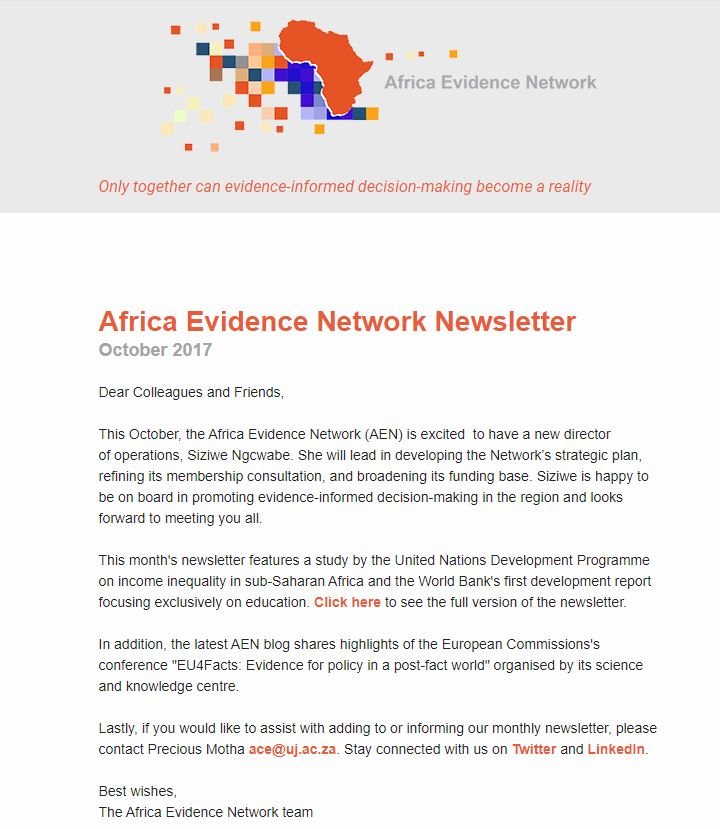 AEN October 2017 newsletter