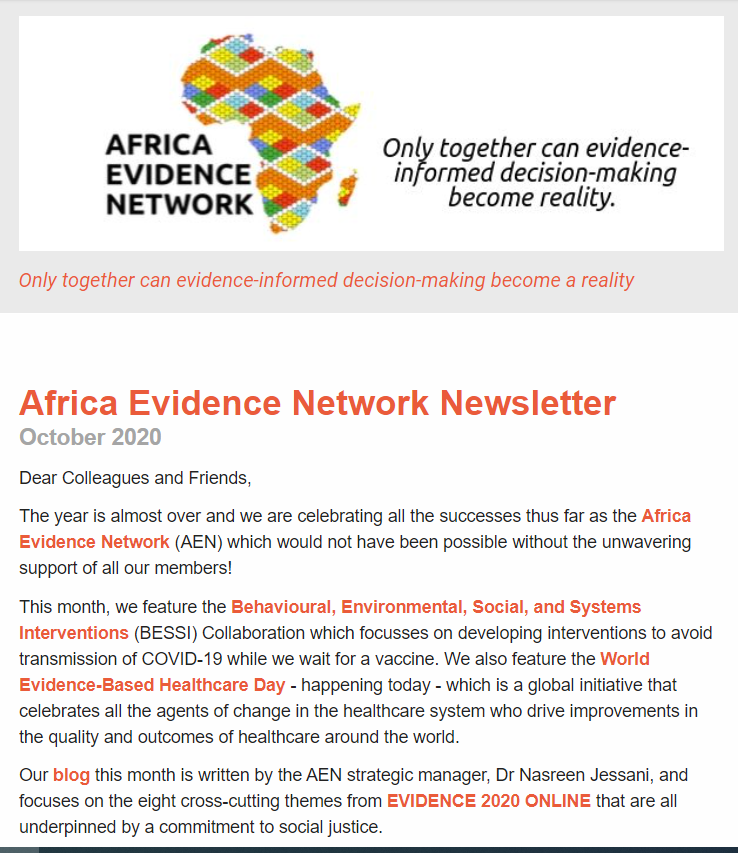 AEN October 2020 newsletter