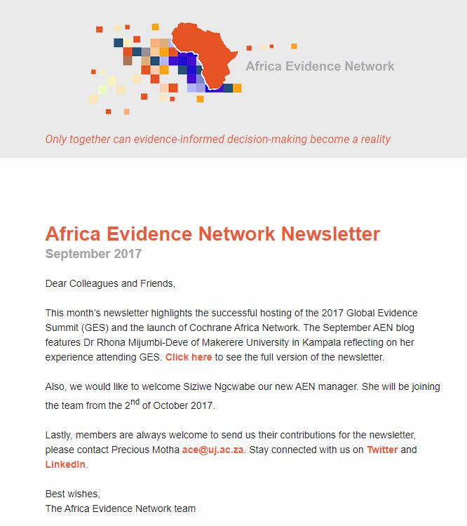 AEN September 2017 newsletter