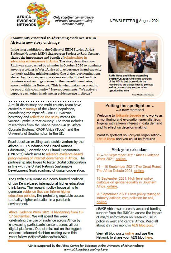 AEN August 2021 newsletter