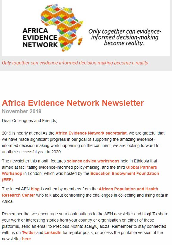 AEN November 2019 newsletter