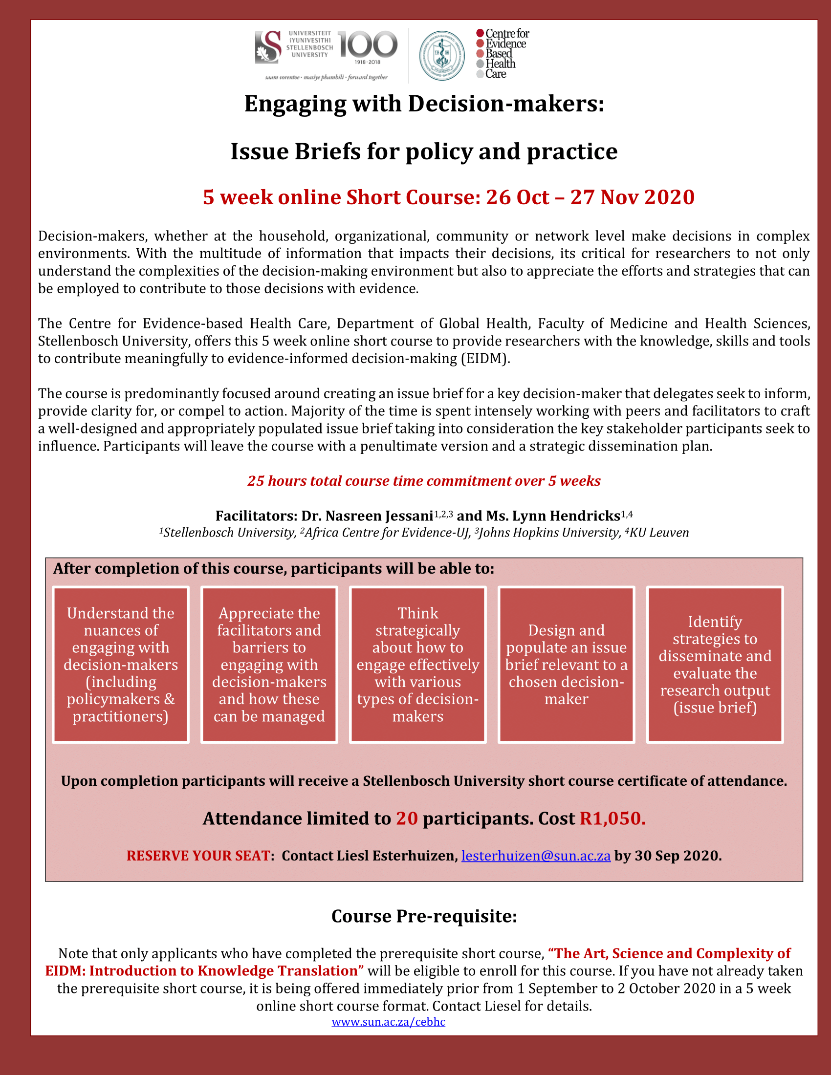 Engaging with decision-makers: Issue briefs for policy and practice