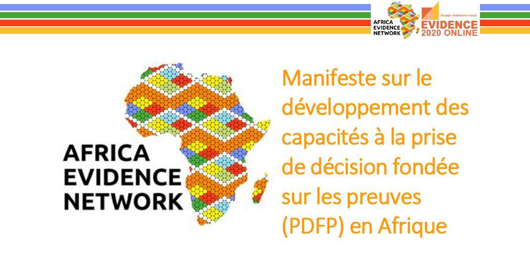 Manifeste sur le développement des capacités à la prise de décision fondée sur les preuves (PDFP) en Afrique