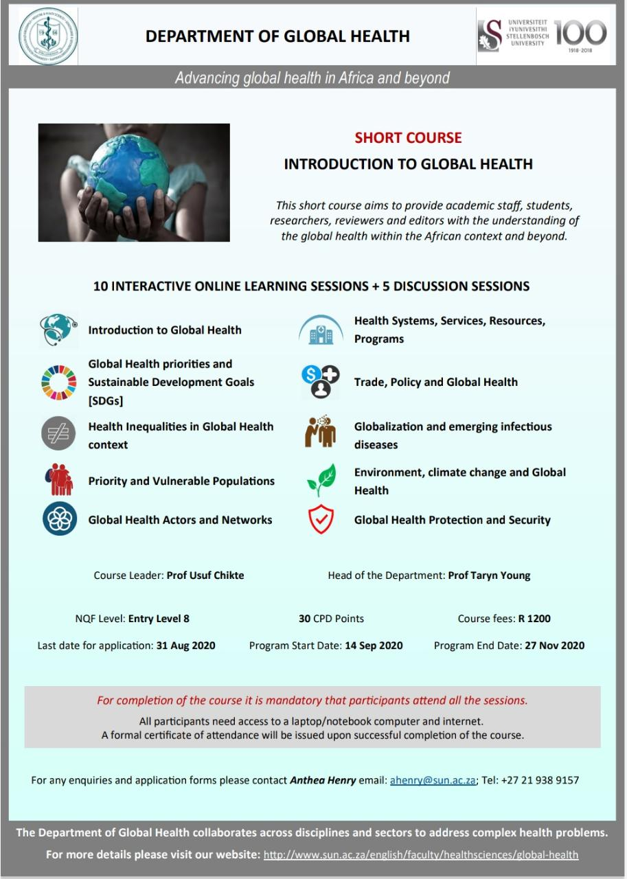 Introduction to Global Health short course