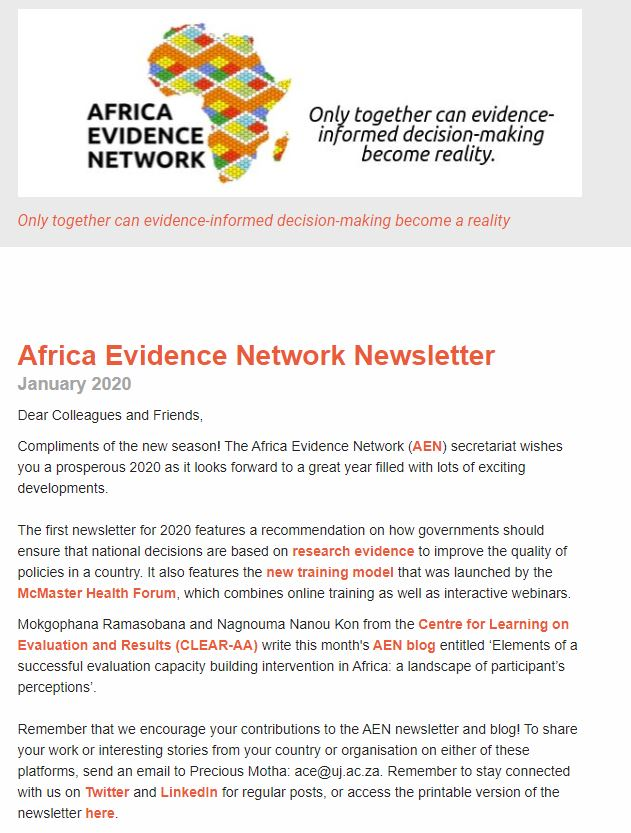AEN January 2020 newsletter