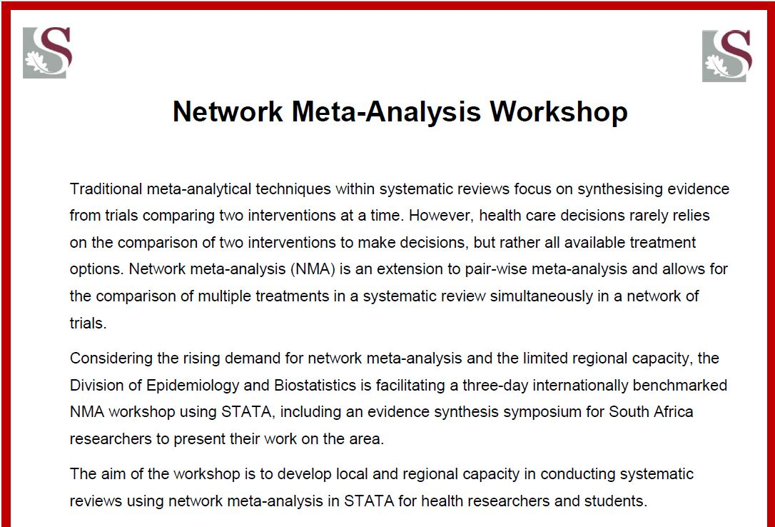Network Meta-Analysis Workshop