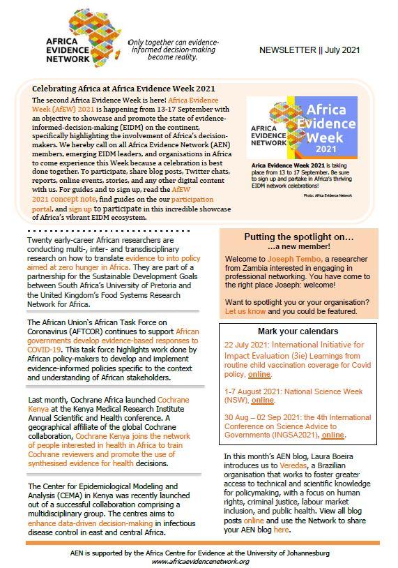 AEN July 2021 newsletter