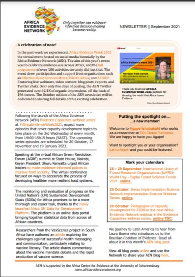 AEN September 2021 newsletter