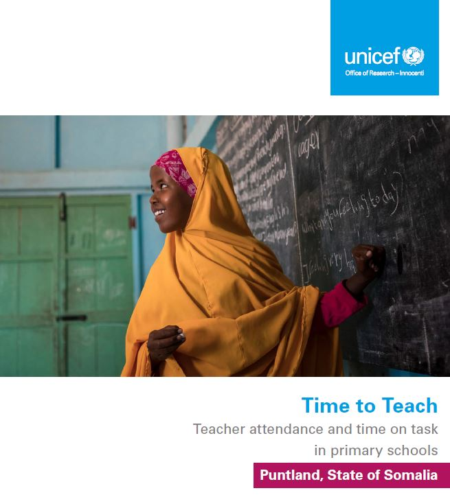 UNICEF Office of Research - Innocenti  - Time To Teach (Puntland, Somalia)